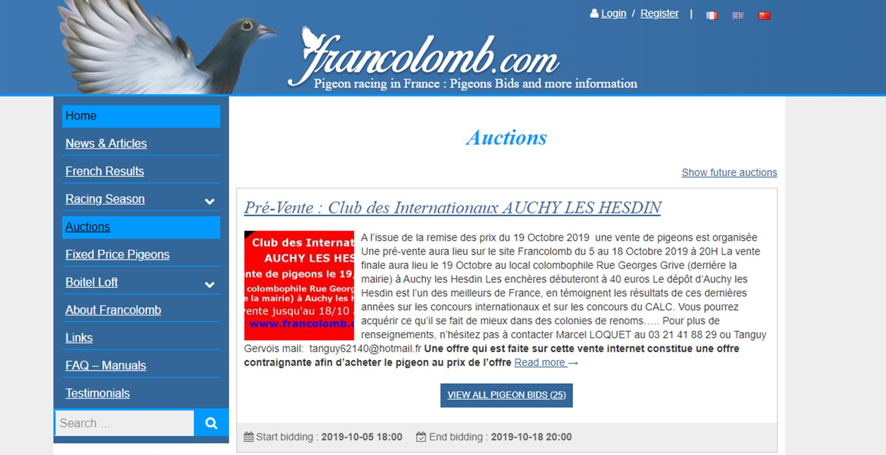 La Colombophilie en France